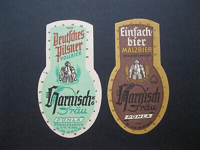 Harnisch Bräu Pöhla Bieretikett Flaschenetikett Bier Brauerei Bierflasche