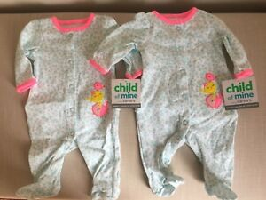 Newborn Girl Sleepers- New with tags