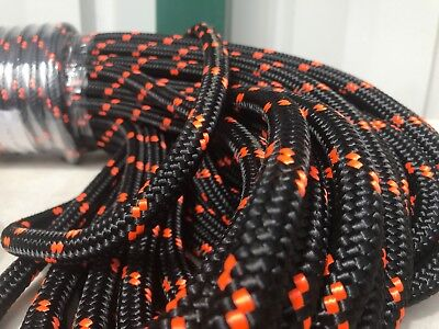 "Double Braid Polyester 1/2""x 150 feet arborist rigging tree rope line"