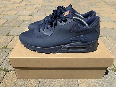 WORN TWICE Nike Air Max 90 Hyperfuse Independence Day Navy 613841 440 Size