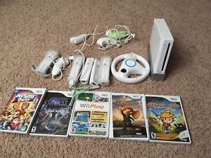 Wii Console, games and controllers.