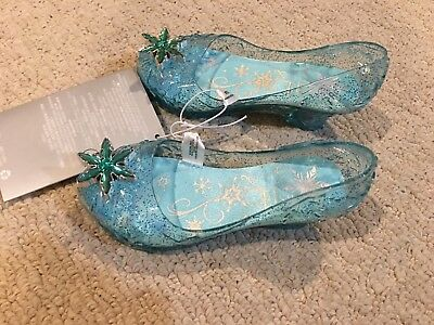 New Disney Store Frozen Elsa LIGHT-UP SHOES COSTUME many sizes Girls