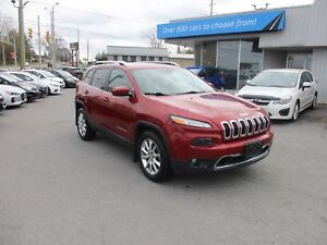 2014 Jeep Cherokee Limited LEATHER, NAV, HEATED SEATS, BACKUP...