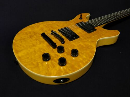 Haze Double-Cut Solid Body Electric Guitar,Ash Burl Veneer,H-H+Bag |18280BNABH|