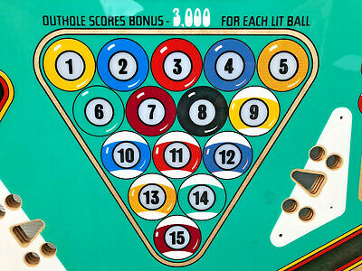 NEW Bally Eight Ball Pinball Machine Game Playfield Clearcoated