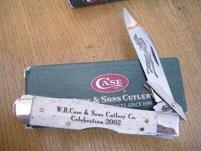 2002 CASE XX CELEBRATION CHEETAH NATURAL BONE KNIFE NEVER USED in BOX #6111 1/2