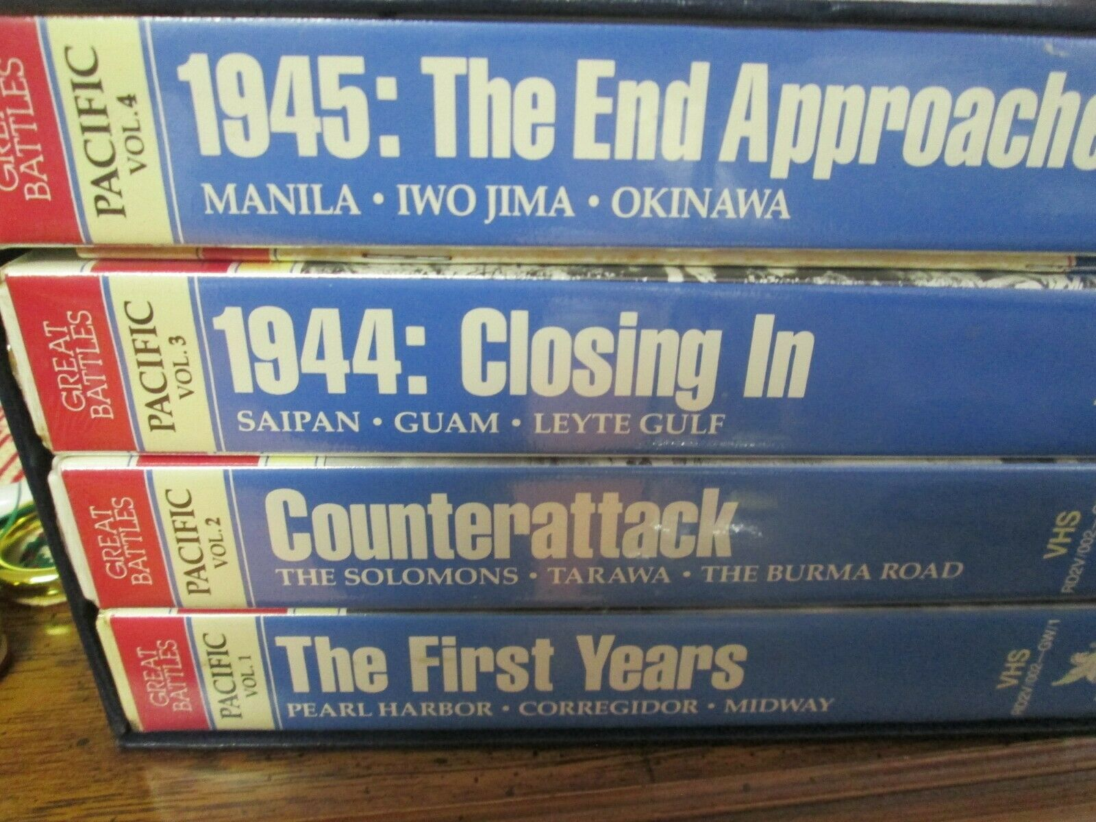 Great Battles Of World War II VHS Box Set 4 Tapes Readers Digest Pacific Victory - $9.99