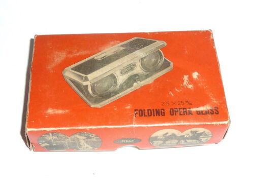 Vintage Miniature Folding Binoculars Opera Glasses 25x25 1950