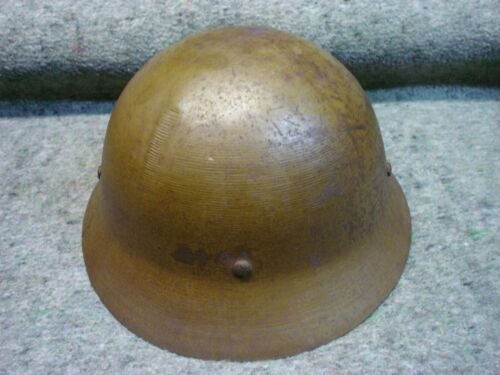 WWII Japanese Civil Defense Helmet, named/unit marked, not Arisaka
