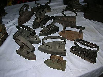 Alte  Bügeleisen, Sammlung 11 alter  Bügeleisen,