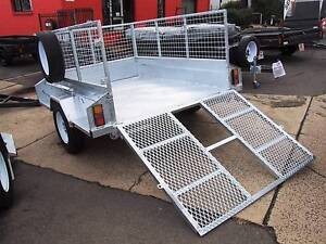 7x4 & 7x5 Galvanised Tipping Trailer with Cage and Extras Fyshwick South Canberra Preview