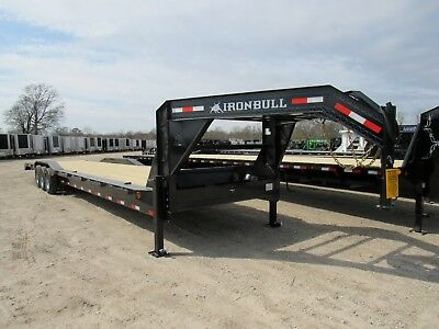 44 X 102 Gooseneck Car Hauler Equipment Trailer--37000 Axles--sir-- Brand New