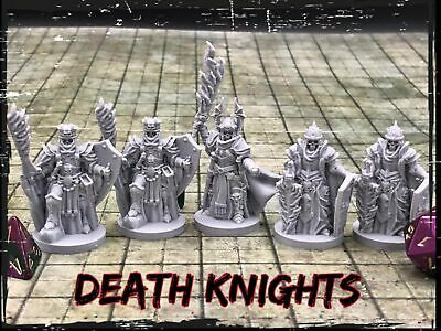 Death Knights Set of 5 Miniatures 28mm Dungeons and Dragons DnD Game Decor -