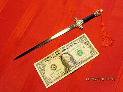 HIGH QUALITY MINIATURE CHINESE TAI CHI SWORD & HANDY LETTER OPENER