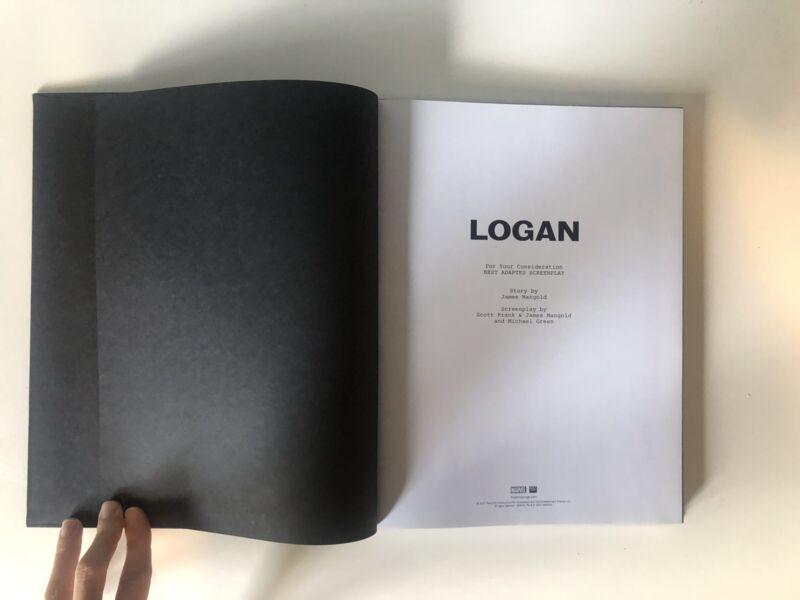 LOGAN For Your Consideration Screenplay Script Book Marvel/Twentieth Century Fox