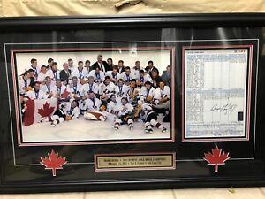 2002 Team Canada Olympic Men's Hockey gold metal game.