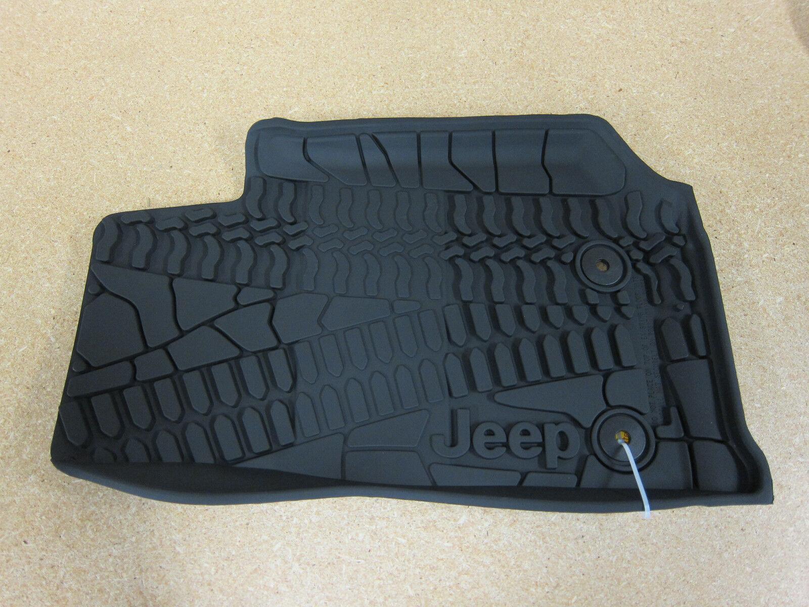 2014 2018 jeep wrangler jk rubber slush all weather floor mats mopar oem 13082001926 ebay. Black Bedroom Furniture Sets. Home Design Ideas