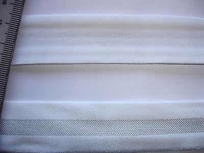 10m Gummiband 0,55€/m Bündchenware weiß, silbergrau 2,5 cm breit  M41