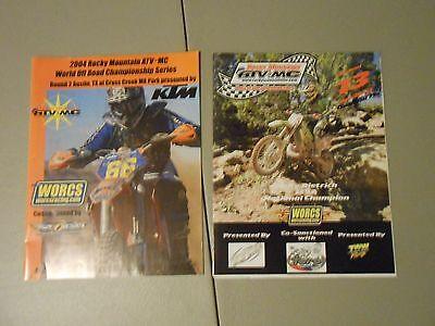 Pair Of 2 2004 2005 Rocky Mountain Atv Motocross Series Programs Autin Texas Oak