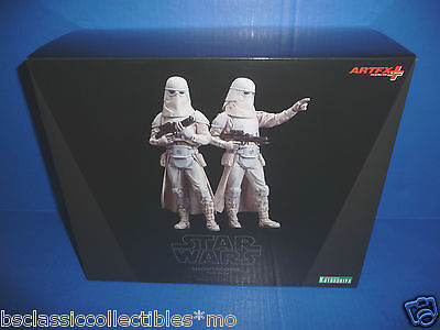 Star Wars Snowtrooper 2 Pack Figures ARTFX+ Kotobukiya 1/10 Scale Model Kit New!