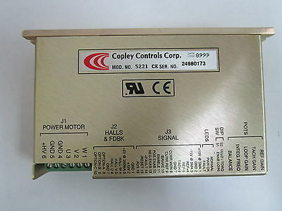 Copley Controls Dc Brushless Servo Amplifier Model No. 5221-ce