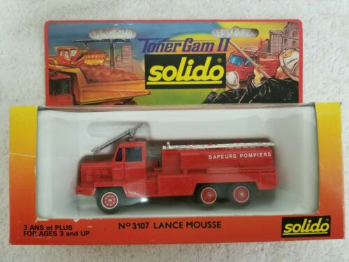 "Solido Lance Mousse ""Sapeurs Pompiers  - made in France - Diecast Scale Model"