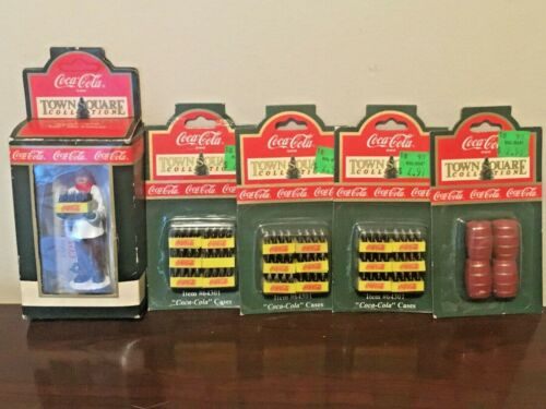 Coca-Cola Town Square Collection Christmas Village Lot Gil the Grocer, 3x Cases