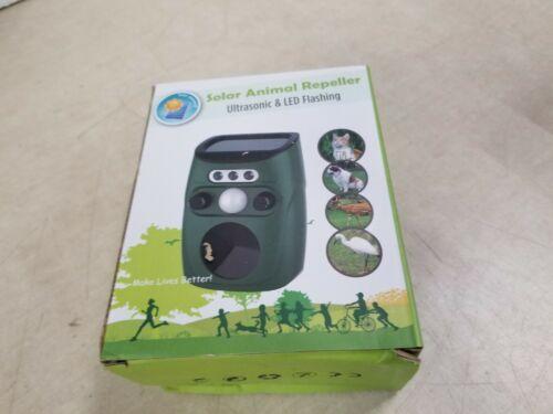 Solar Animal Repeller, Outdoor Weatherproof Solar Powered, Ultrasonic LED Flash