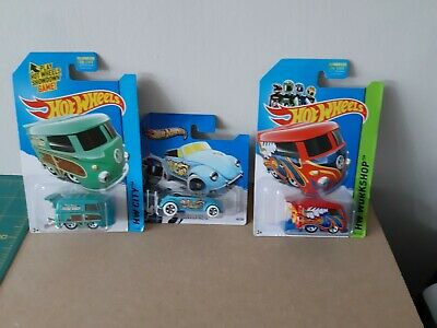 HOT WHEELS workshop & city VOLKSWAGEN BEETLE & KOOL KOMBI