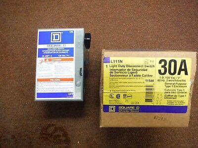 Square D Schneider Electric L111n 30 Amp 120-volt Disconnect