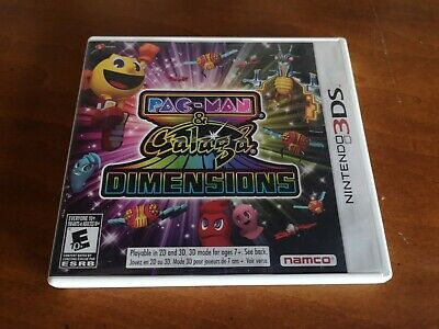 Pac-Man & Galaga Dimensions (Nintendo 3DS, 2011) - Complete