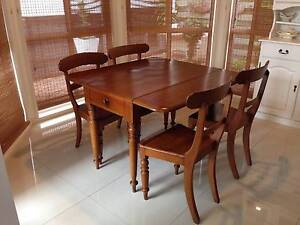 Dropside Dining Table + 4 matching chairs Ascot Brisbane North East Preview