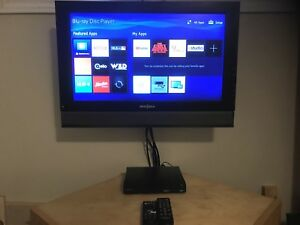 Flat Screen TV with Blue Ray player