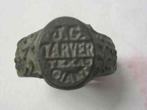 Vintage 1950s J.G. Tarver Texas Giant Freak Show Carnival Souvenir ring