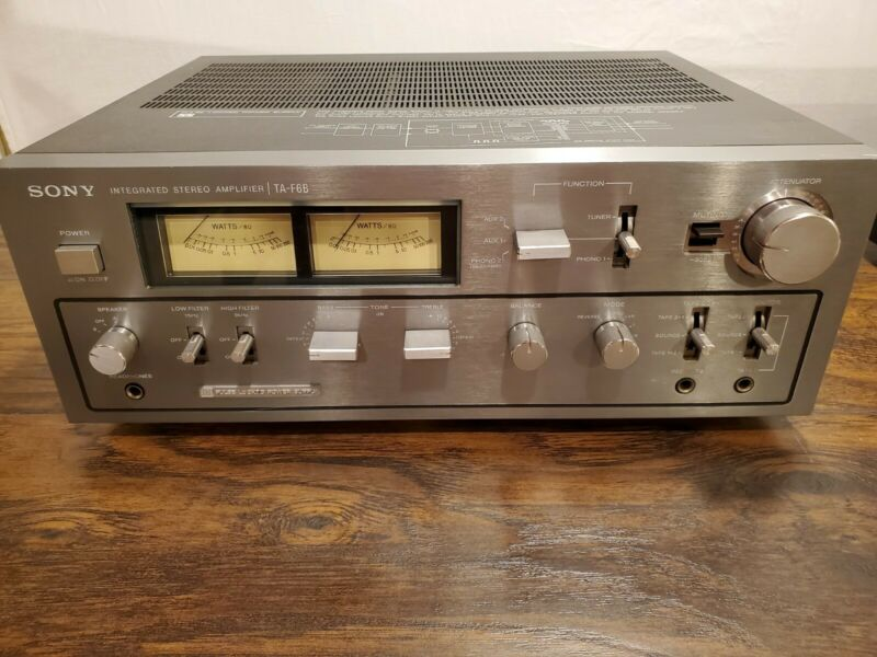 🔥Sony TA-F6B Silver Face Stereo Amplifier, Working Condition🔥