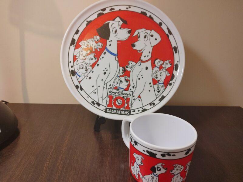 Vintage Disney 101 Dalmations Childs Plate and mug Zak Designs Plastic