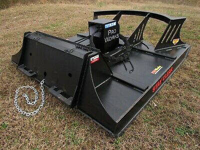 Cat Skid Steer Attachment 72 Direct Drive Brush Cutter Bush Hog - Free Ship