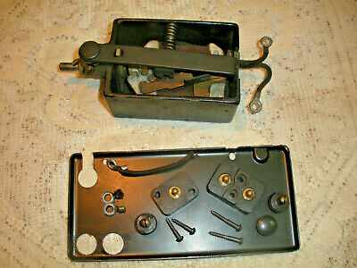 Vintage Singer Sewing Machine Bentwood Case Knee Controller Terminals & Controlr