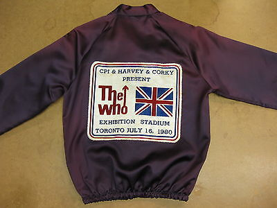 The WHO Exhibition Stadium Toronto CANADA 1980 Concert Tour JACKET Mod TOWNSHEND