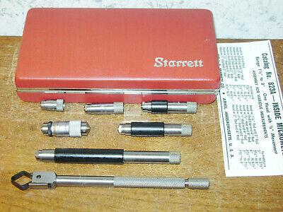 Starrett Tubular Id Inside Micrometer Set No 823a - Lotd1