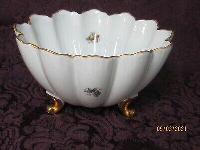 Dish,Planter Germany Vintage Bone China Bowl Hand Painted Basket Boy