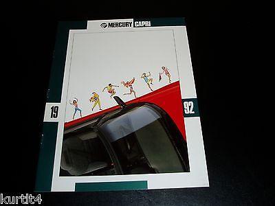 1992 Mercury Capri XR2 convertible sales brochure dealer car literature 20 page
