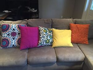 Throw pillows and decor items