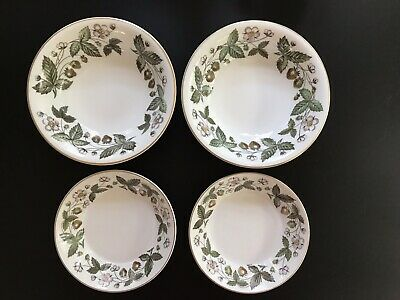 4pc Lot Wedgwood STRAWBERRY HILL - 2 Coupe Cereal & 2 Berry/Sauce Bowls