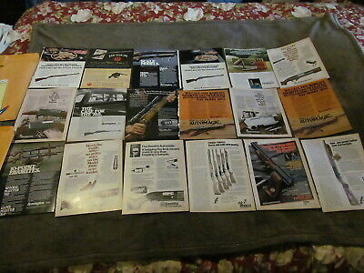 Fabulous Lot Of 18 Vintage Magazine Ads - Guns Of All Kinds 1970's - Must See!!!