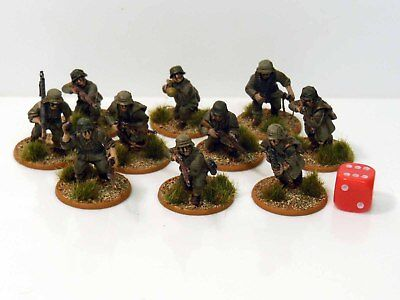 28mm Bolt Action Chain Of Command German Panzergrenadiers Painted 10 Figures R2
