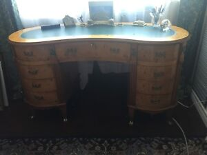 Antique French kidney shaped writing desk