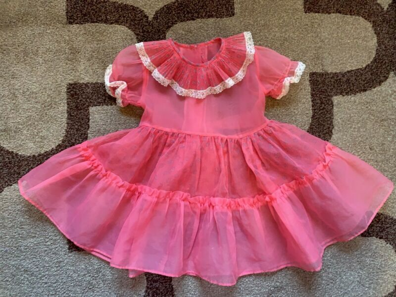 vintage girl sheer dress