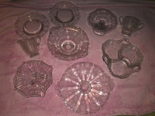 Large lot of Rose Point Glassware