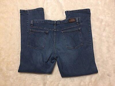 Womens Calvin Klein Jeans 14 30 Low Rise Boot Cut Dark Stone Wash Dark Stonewash Low Rise Boot Jean